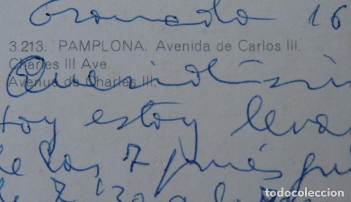 Postales: ANTIGUAS POSTALES PAMPLONA: PLAZA CASTILLO, AVENIDA CARLOS III, MONUMENTO FUEROS NAVARRA - AÑOS 60 C - Foto 5 - 84231892