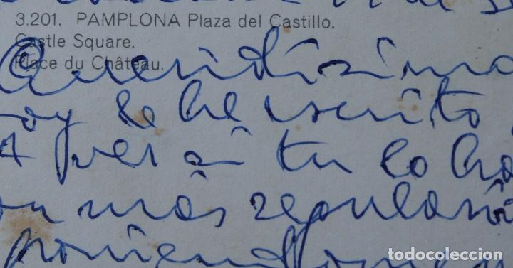 Postales: ANTIGUAS POSTALES PAMPLONA: PLAZA CASTILLO, AVENIDA CARLOS III, MONUMENTO FUEROS NAVARRA - AÑOS 60 C - Foto 6 - 84231892