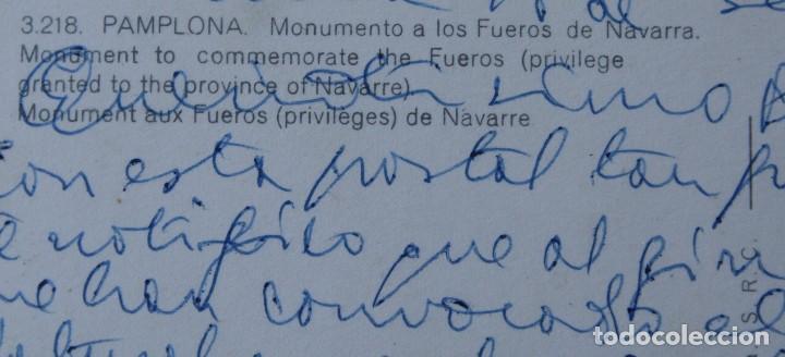 Postales: ANTIGUAS POSTALES PAMPLONA: PLAZA CASTILLO, AVENIDA CARLOS III, MONUMENTO FUEROS NAVARRA - AÑOS 60 C - Foto 7 - 84231892