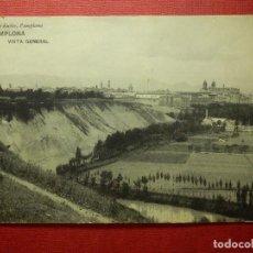 Postales: POSTAL - ESPAÑA - PAMPLONA - VISTA GENERAL - VIUDA DE RUBIO - HAUSER Y MENET - ESCRITA EN 1912. Lote 87197304