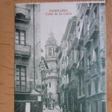Postales: PAMPLONA. CALLE DE LA CURIA. (ED. ESTANISLAO ESPELOSIN).. Lote 87829032