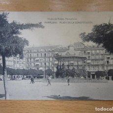 Postales: PAMPLONA.- PLAZA DE LA CONSTITUCIÓN. VIUDA DE RUBIO. HAUSER Y MENET.. Lote 90441214