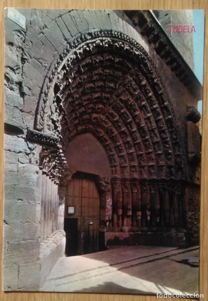 TUDELA - CATEDRAL PUERTA DEL JUICIO (Postales - España - Navarra Moderna (desde 1.940))