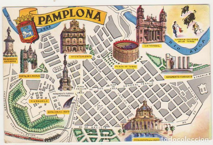 pamplona mapa pamplona.  mapa callejero. año 1964.   Comprar Postales de Navarra  pamplona mapa
