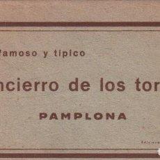 Postales: EL FAMOSO Y TÍPICO ENCIERRO DE LOS TOROS, PAMPLONA. SAN FERMÍN. 10 POSTALES. P.MUNDI/NAVARRA-005. Lote 93649435