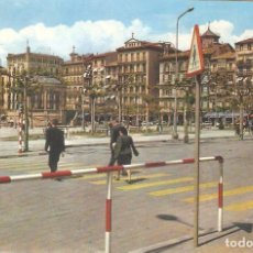 Postales: PAMPLONA, PLAZA DEL CASTILLO, VAQUERO, CIRCULADA. Lote 93800710
