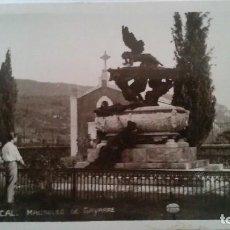 Postales: RONCAL - MAUSOLEO DE GAYARRE -- FOTO POSTAL. Lote 94539987