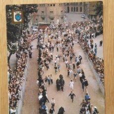 Postales: PAMPLONA - SAN FERMIN - ENCIERRO DE TOROS. Lote 96420471