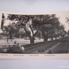 Postales: PAMPLONA JARDINES TACONERA POSTAL ORIGINAL ANTIGUA . Lote 96602823