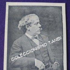 Postales: POSTAL DE PAMPLONA (NAVARRA). PABLO SARASATE. COMPOSITOR. MUSICO. VIUDA DE RUBIO. AÑOS 30. Lote 96896083