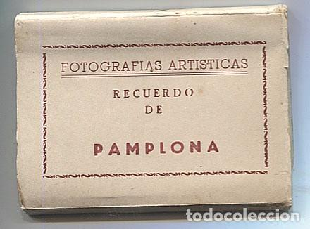 X117157 NAVARRA 10 VISTAS RECUERDO DE PAMPLONA CATEDRAL MONUMENTO PORTAL MURALLAS PLAZA TOROS ETC... (Postales - España - Navarra Antigua (hasta 1.939))