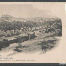 Postales: TAFALLA - VISTA PANORÁMICA - ESTACIÓN DEL FERROCARRIL - TREN ENTRANDO EN LA ESTACIÓN - P22691. Lote 97929539