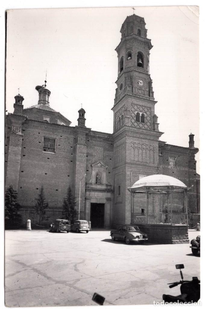 CORELLA.(PAMPLONA).- PLAZA DE LOS FUEROS. PARROQUIA NUESTRA SEÑORA DEL ROSARIO.ED.PARIS.J.M.ZARAGOZA (Postales - España - Navarra Antigua (hasta 1.939))