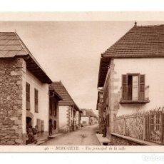 Postales: BURGUETE (NAVARRA).- VISTA PRINCIPAL DE LA CALLE. L.ROISIN. Lote 103244267