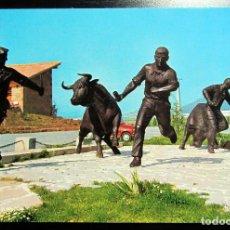 Postales: POSTAL POST CARD CARTE POSTALE BERRIOPLANO NAVARRA HOSTAL DEL TORO MONUMENTO AL ENCIERRO. Lote 103459803