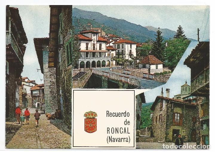 RONCAL .- Nº 1 TRES VISTAS PARCIALES .- EDICIONES COMPLEX 1966 .- SIN CIRCULAR (Postales - España - Navarra Moderna (desde 1.940))