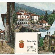 Postales: RONCAL .- Nº 1 TRES VISTAS PARCIALES .- EDICIONES COMPLEX 1966 .- SIN CIRCULAR . Lote 103541315