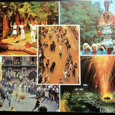 Postales: POSTAL POST CARD CARTE POSTALE PAMPLONA NAVARRA FIESTAS SAN FERMIN ENCIERRO IRUÑA ESCUDO DE ORO . Lote 103624891