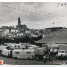 Postales: FUNES, NAVARRA, POSTAL FOTOGRÁFICA CIRCULADA CON EL CIRCO CONTINENTAL EN PRIMER PLANO. Lote 103789303
