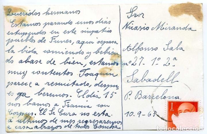 Postales: Funes, Navarra, postal fotográfica circulada con el circo Continental en primer plano - Foto 2 - 103789303
