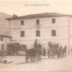 Postales: NAVARRA VALCARLOS PLAZA Y FONDA MARCELINO MARTIN. Lote 104083939