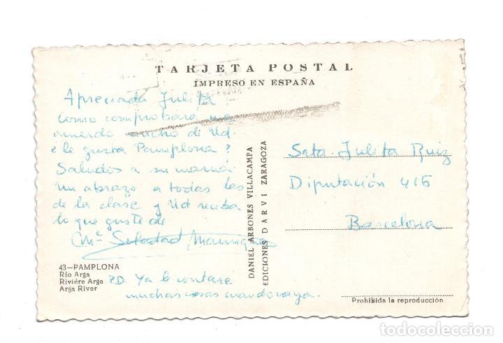 Postales: PAMPLONA, NAVARRA.- RIO ARGA. Nº 43, EDICIONES DARVI - FOT. DANIEL ARBONES - CALIDAD FOTOGRÁFICA - Foto 2 - 104183607