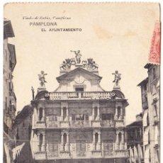 Postales: ANTIGUA POSTAL PAMPLONA - EL AYUNTAMIENTO - NAVARRA. Lote 104253895