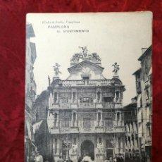 Postales: PAMPLONA - IRUÑA - EL AYUNTAMIENTO - FOTOTIPIA HAUSER Y MENET - VIUDA DE RUBIO -. Lote 105801843