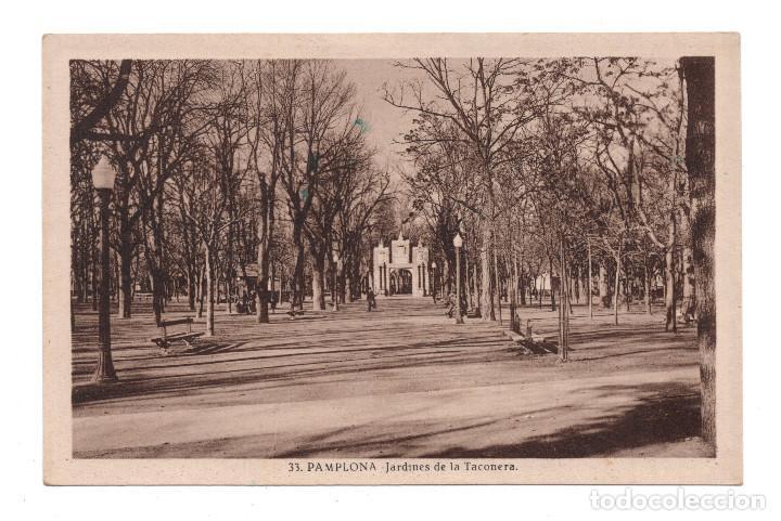 PAMPLONA, NAVARRA.- JARDINES DE LA TACONERA. L. ROISÍN (Postales - España - Navarra Antigua (hasta 1.939))