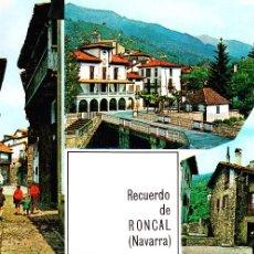 Postales: RONCAL (NAVARRA) -TRES VISTAS PARCIALES- (FOTO PEÑARROYA Nº 1) TEXTO EN REVERSO 1969 / P-523. Lote 91810490