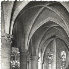 Postales: ** A1724 - POSTAL - RONCESVALLES - NAVE LATERAL. Lote 107055907