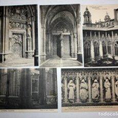 Postales: LOTE DE 5 ANTIGUAS POSTALES DE LA CATEDRAL DE PAMPLONA. NAVARRA. VARIAS VISTAS. Lote 107186903