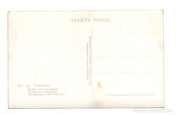 Postales: PAMPLONA.- JARDINES DE LA TACONERA. fotográfica - FOTO RUPEREZ - Foto 2 - 107354111