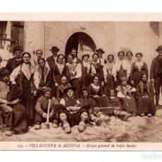 Postales: NAVARRA. VILLANUEVA DE AÉZCOA - GRUPO GENERAL DE TRAJES LOCALES .FOT L. ROISIN . Lote 108101655