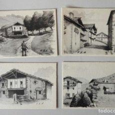 Postales: LOTE 10 POSTALES CON REPRODUCCIONES DE DIBUJOS DEL PINTOR DE NAVARRA FRANCISCO ECHENIQUE ANSORENA. Lote 108355959