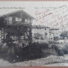 Postales: POSTAL VERA BIDASOA BARRIO DE ILLECUETA EDIC J.S. ASCAIN PAMPLONA NAVARRA PAIS VASCO CIRCULADA 1903. Lote 110621683