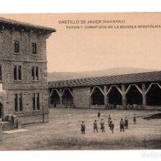 Postales: CASTILLO DE JAVIER (NAVARRA).- PATIOS Y COBERTIZOS DE LA ESCUELA APOSTÓLICA. Lote 110974587