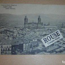 Postales: PAMPLONA VISTA PARCIAL - VIUDA DE RUBIO , PAMPLONA HAUSER Y MENET MADRID CIRCULADA 1912 - 14X9 CM. . Lote 111043615
