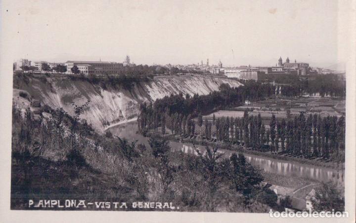 POSTAL FOTOGRAFICA PAMPLONA - VISTA GENERAL (Postales - España - Navarra Antigua (hasta 1.939))