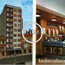 Postales: TAFALLA (NAVARRA) Nº 1 HOSTAL QUIÑON FACHADA PRINCIPAL SALON CAFETERIA - ESCRITA AL DORSO - AÑO 1969. Lote 111704423