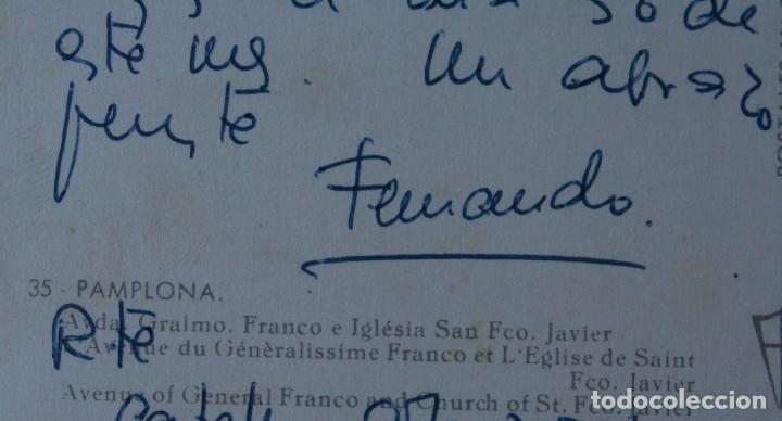 Postales: ANTIGUA TARJETA POSTAL VAQUERO PAMPLONA AVDA. GENERALISIMO FRANCO IGLESIA SAN FRANCISCO JAVIER - Foto 2 - 113331379