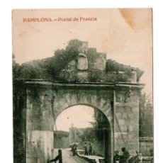 Postales: POSTAL NAVARRA PAMPLONA PORTAL DE FRANCIA . ESTANISLAO ESPELOSIN. Lote 114841327