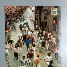 Postales: POSTAL 70 PAMPLONA NAVARRA FIESTAS DE SAN FERMIN EL ENCIERRO DOMINGUEZ AÑO 1981. Lote 116395340