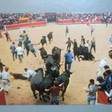 Postales: POSTAL 56 SAN FERMIN ENCIERRO LOS TOROS ENTRANDO EN LA PLAZA GARCÍA GARRABELLA. Lote 116507784