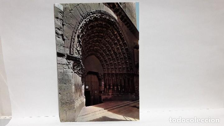 POSTAL TUDELA 204 CATEDRAL PUERTA DEL JUICIO EDC. PARIS, SIN USO. (Postales - España - Navarra Moderna (desde 1.940))