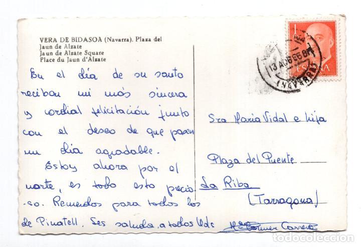 Postales: VERA DE BIDASOA (NAVARRA).- PLAZA DEL JAUN DE ALZATE - Foto 2 - 116732843