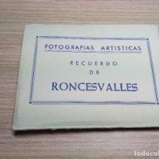 Postales: RONCESVALLES. ALBUM ACORDEON 10 POSTALES ANTIGUAS. Lote 116788283