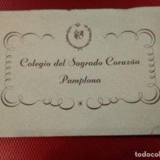 Postales: BLOCK DE 16 POSTALES DEL COLEGIO SAGRADO CORAZON DE PAMPLONA, FOURNIER DE VITORIA COMPLETO. Lote 120330175