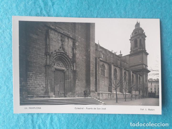 PAMPLONA. CATEDRAL. PUERTA DE SAN JOSÉ. (Postales - España - Navarra Moderna (desde 1.940))