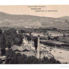 Postales: PAMPLONA (NAVARRA) - BARRIO DE LA MAGDALENA. FOTOTIPIA DE HAUSER Y MENET - MADRID. Lote 120908323